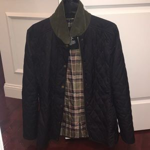 LLBean Quilted Riding Jacket, Navy Blue